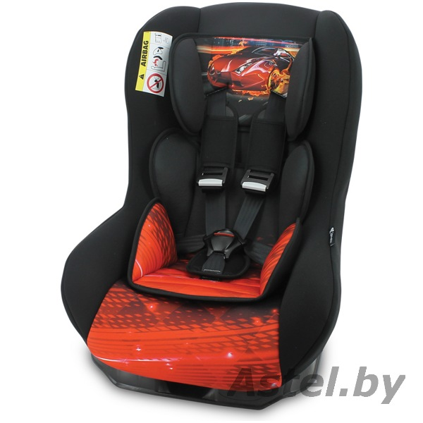Автокресло Lorelli (Bertoni) Beta PLUS (0-18 кг) Black Feiry Race Черный Машина