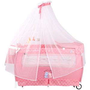 Манеж-кровать Lorelli (Bertoni) Sleep N Dream Rocker Pink Hippo
