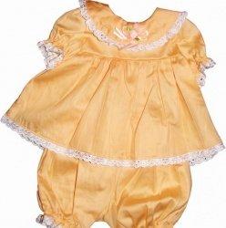 Набор крестильный для девочки (платье, панталоны, косынка) 1607