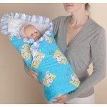 Одеяло-конверт для новорожденного Голубой арт.15