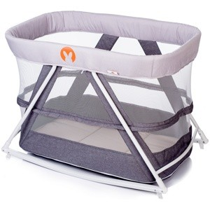 Колыбель манеж Babyhit ROCKING CRIB (3 в 1) LIGHT GREY светло серая