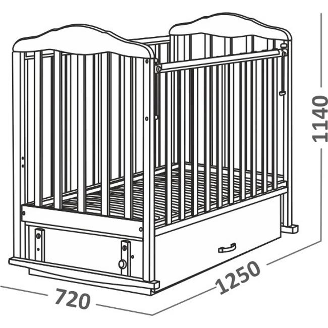 Кроватка СКВ