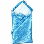 Комплект для новорожденных на выписку 8 предметов шитье  (Атлас) Голубой / арт.1142