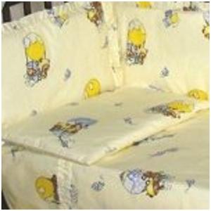 """Комплект в кроватку постельного белья для новорожденных 3-ёх предметный """"Ночка"""" расцветка Мишки на воздушном шаре"""