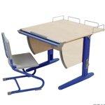Набор универсальной мебели Дэми: стол, стул (СУТ.14-01) дерев. стул (синий, клен)