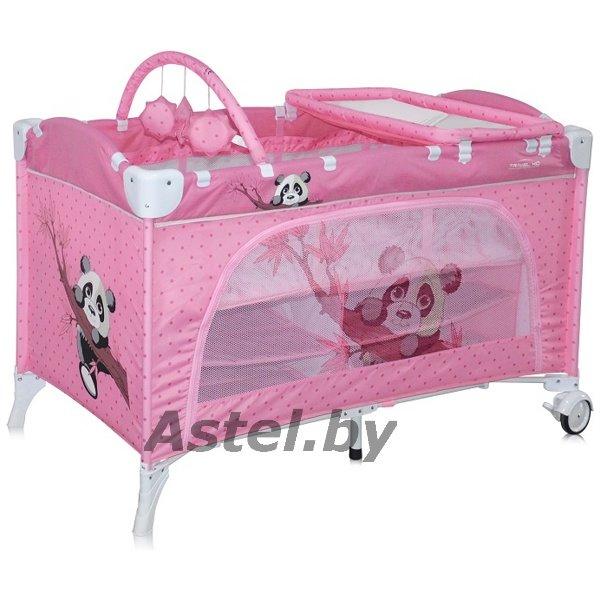 Манеж-кровать Lorelli (Bertoni) Travel Kid 2 Pink Panda