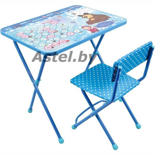набор детской мебели ника кп218 маша и медведь азбука 4 столстул