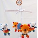 Музыкальная каруселька Полосатые панды 308, с мягкими игрушками, Baby mix